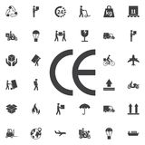 UE do ícone do sinal da caixa, FC, CE ilustração do vetor