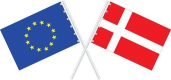 UE e Dinamarca ilustração royalty free