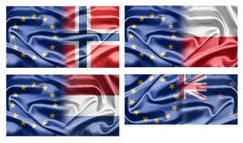 UE e paesi Fotografia Stock Libera da Diritti