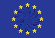 A UE embandeira Fotografia de Stock Royalty Free