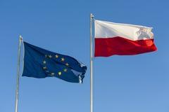A UE embandeira. Imagem de Stock Royalty Free