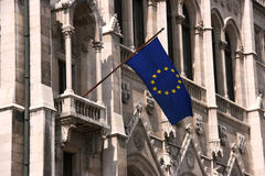 A UE embandeira Fotografia de Stock