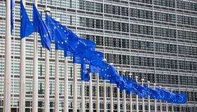 A UE embandeira Bruxelas Fotografia de Stock