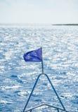 A UE embandeira no navio Fotos de Stock Royalty Free