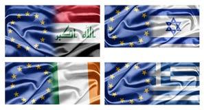 UE et pays Images stock