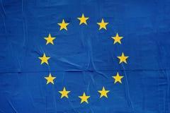 UE flaga druk na Grunge Plakatowym papierze obraz stock