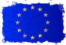 UE flaga Grunge tło ilustracja wektor