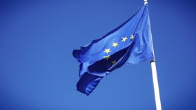 UE flagi zwolnione tempo zdjęcie wideo