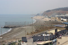 UE granica Ceuta Fotografia Royalty Free
