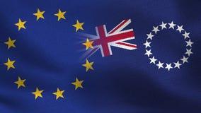UE i Kucbarskich wysp Realistyczna połówka Zaznacza Wpólnie fotografia royalty free