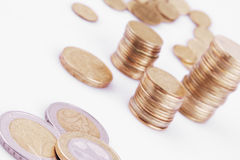 UE (moedas da União Europeia) Fotografia de Stock Royalty Free