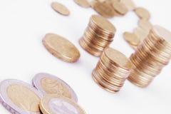 UE (monedas de la unión europea) Fotografía de archivo libre de regalías