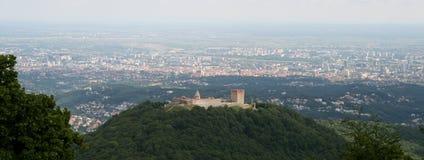 UE Nowy członek, Chorwacja/Zagreb, panorama zdjęcia royalty free