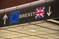 UE R-U d'indication de signe de Brexit Photos stock
