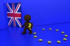 UE referendum mężczyzna ilustracja wektor