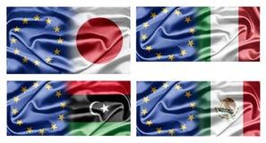 UE y países Imágenes de archivo libres de regalías
