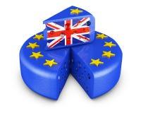 UE y pedazo Reino Unido del queso stock de ilustración