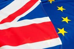 UE y Reino Unido Fotografía de archivo libre de regalías