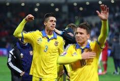 UEFA决赛的欧元2016年淘汰赛:斯洛文尼亚v乌克兰 库存照片