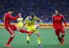 UEFA欧元2016年具有资格的巡回赛比赛乌克兰对西班牙 免版税图库摄影