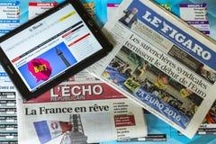 UEFA欧元2016年在新闻中 免版税库存照片