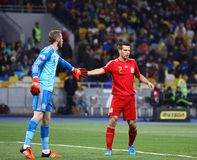 UEFA欧元2016年合格的比赛乌克兰v西班牙 库存图片