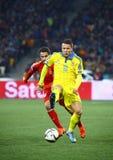 UEFA欧元2016年合格的比赛乌克兰v西班牙 免版税库存图片
