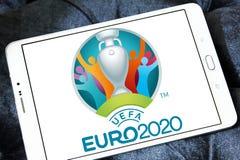 UEFA欧元2020年商标 库存照片