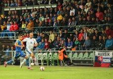 UEFA欧元2016年2015年9月8日的斯洛伐克-乌克兰比赛 免版税库存照片