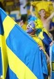 UEFA欧元2012年比赛瑞典对法国 免版税库存图片