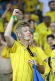 UEFA欧元2012年比赛瑞典对法国 免版税图库摄影