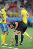 UEFA欧元2016年:瑞典v比利时 免版税图库摄影