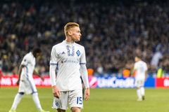 """UEFA欧罗巴同盟足球比赛发电机Kyiv †""""拉齐奥, 3月1日 图库摄影"""