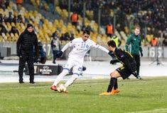 """UEFA欧罗巴同盟足球比赛发电机Kyiv †""""AEK, 2月 免版税库存照片"""