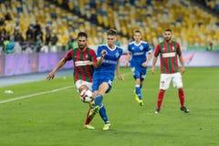 """UEFA欧罗巴同盟足球比赛发电机Kyiv †""""Maritimo, Augu 库存照片"""