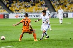"UEFA欧罗巴同盟足球比赛发电机Kyiv †""Skenderbeu, Se 免版税库存图片"