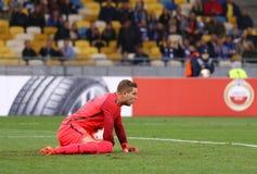 UEFA欧罗巴同盟:基辅迪纳摩v年轻男孩 库存图片