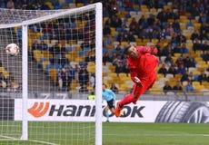 UEFA欧罗巴同盟:基辅迪纳摩v年轻男孩 免版税库存照片