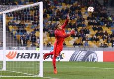 UEFA欧罗巴同盟:基辅迪纳摩v年轻男孩 库存照片