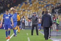 UEFA欧罗巴同盟半决赛Dnipro对拿坡里 免版税库存图片