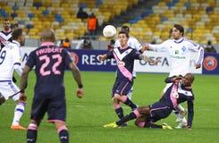 UEFA欧罗巴同盟比赛基辅迪纳摩与红葡萄酒 免版税图库摄影