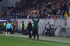 Uefa欧罗巴同盟比赛Shakhtar顿涅茨克对安德莱赫特 库存图片