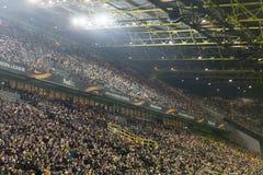 UEFA欧罗巴在多特蒙德足球俱乐部之间的联赛对PAOK 免版税库存照片