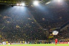 UEFA欧罗巴在多特蒙德足球俱乐部之间的联赛对PAOK 库存图片
