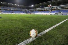 UEFA欧罗巴在盖贝莱之间的同盟比赛正式最后一球  免版税库存图片