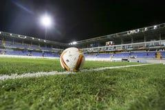 UEFA欧罗巴在盖贝莱之间的同盟比赛正式最后一球  库存图片