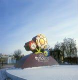 uefa должностного лица логоса евро 2012 Стоковые Изображения RF