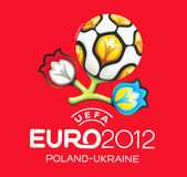 uefa должностного лица логоса евро 2012 Стоковое Изображение RF