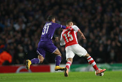 UEFA Champions League Arsenal v Anderlecht Royalty Free Stock Photos