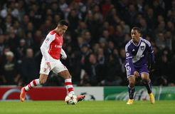 UEFA Champions League Arsenal v Anderlecht Royalty Free Stock Photography